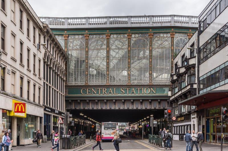 Stazione centrale sopra Argyle Street, Glasgow Scotland Regno Unito immagini stock