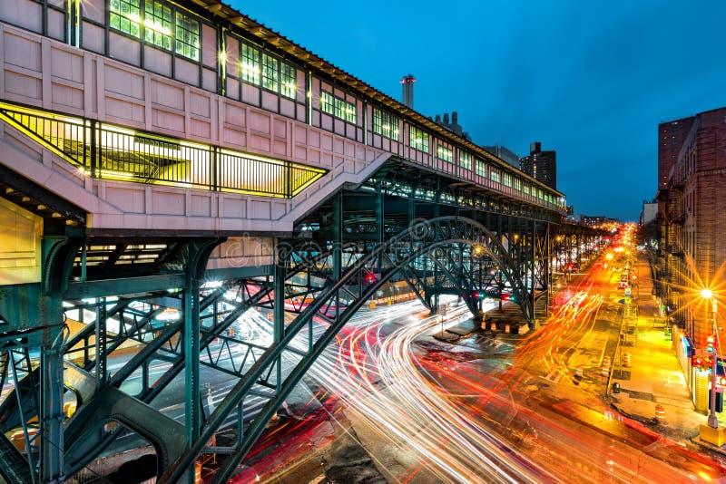 Stazione del hub della ferrovia del pendolare, in Harlem, NYC fotografia stock libera da diritti