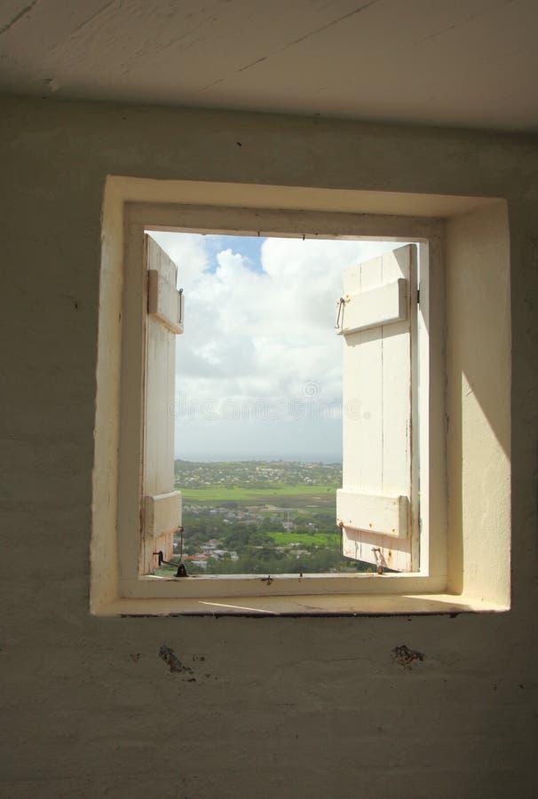 Stazione del segnale della collina della pistola, Barbados immagine stock
