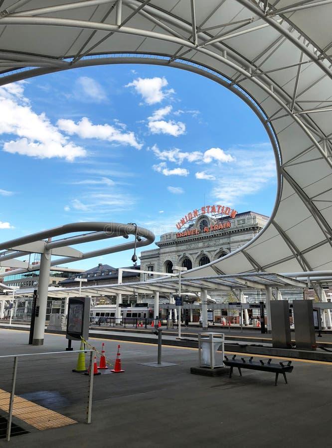 Stazione del sindacato a Denver fotografia stock libera da diritti