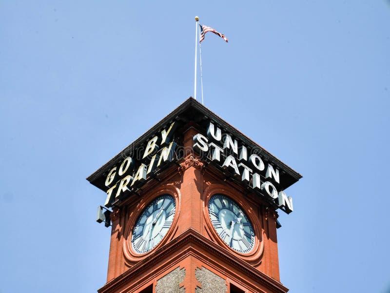 Stazione del sindacato a Portland, Oregon fotografie stock