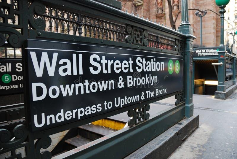 Stazione del Wall Street, New York City fotografia stock libera da diritti