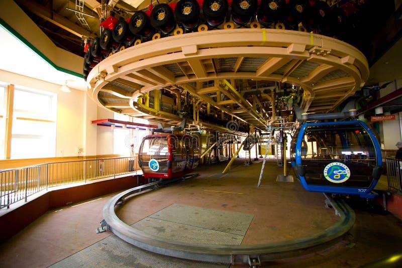 Stazione della cabina di funivia del Ropeway di Hakone fotografie stock libere da diritti