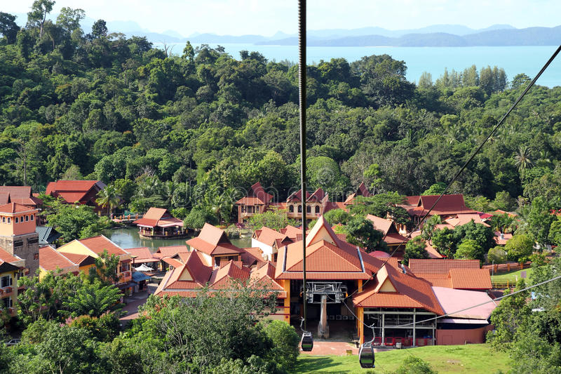Stazione della cabina di funivia di Langkawi fotografia stock