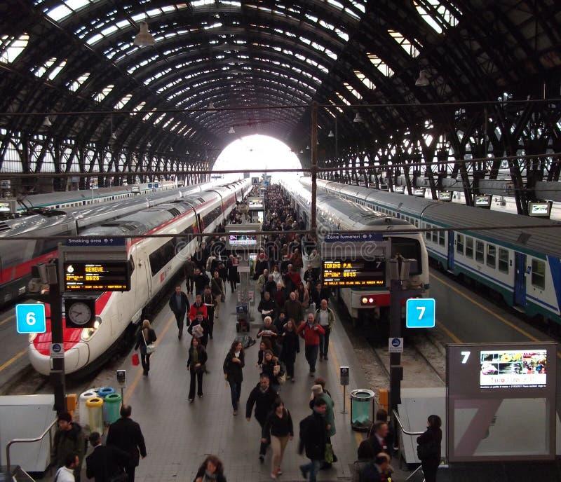 Stazione della centrale di Milano immagine stock libera da diritti