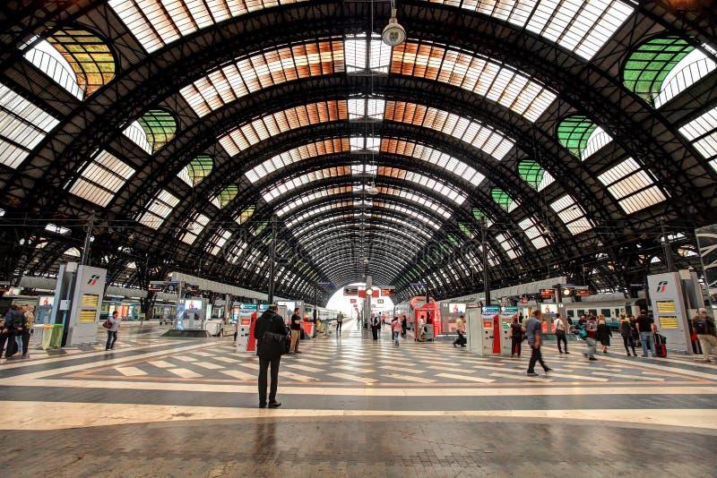 Stazione della centrale di Milano. fotografia stock