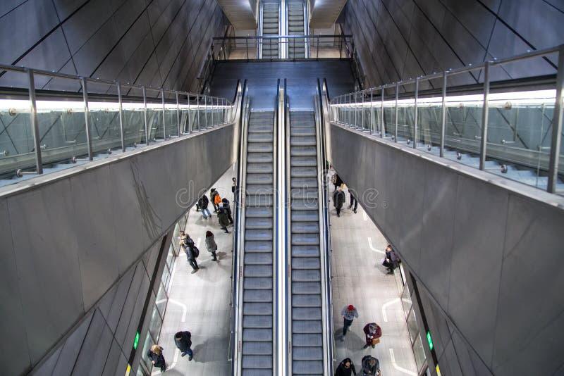 Stazione della metropolitana del forum a Copenhaghen, Danimarca fotografie stock