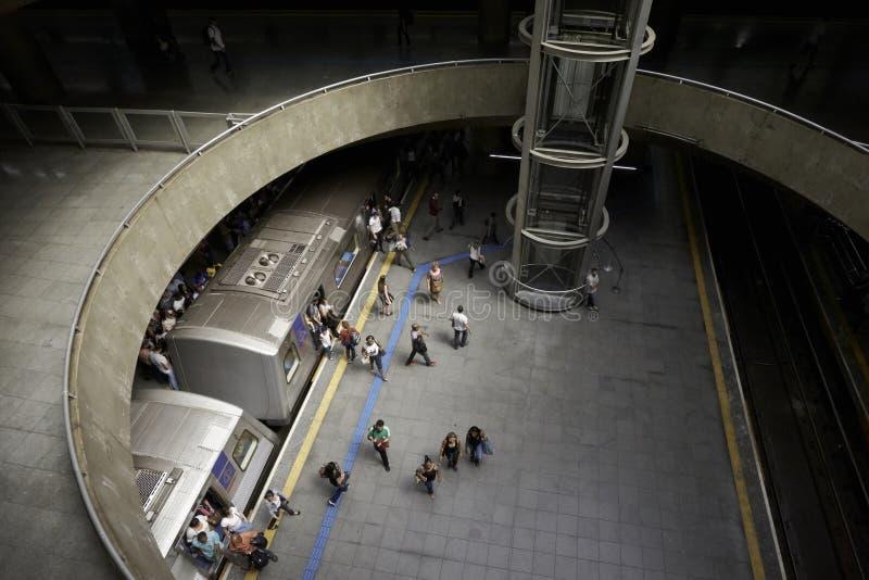 Stazione della metropolitana del Se nella città di Sao Paulo, Brasile fotografie stock