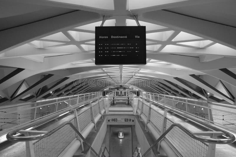 Stazione della metropolitana di Alameda, Valencia fotografie stock