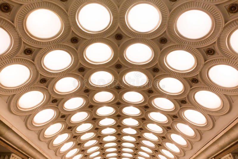 Stazione della metropolitana di Elektrozavodskaya immagine stock