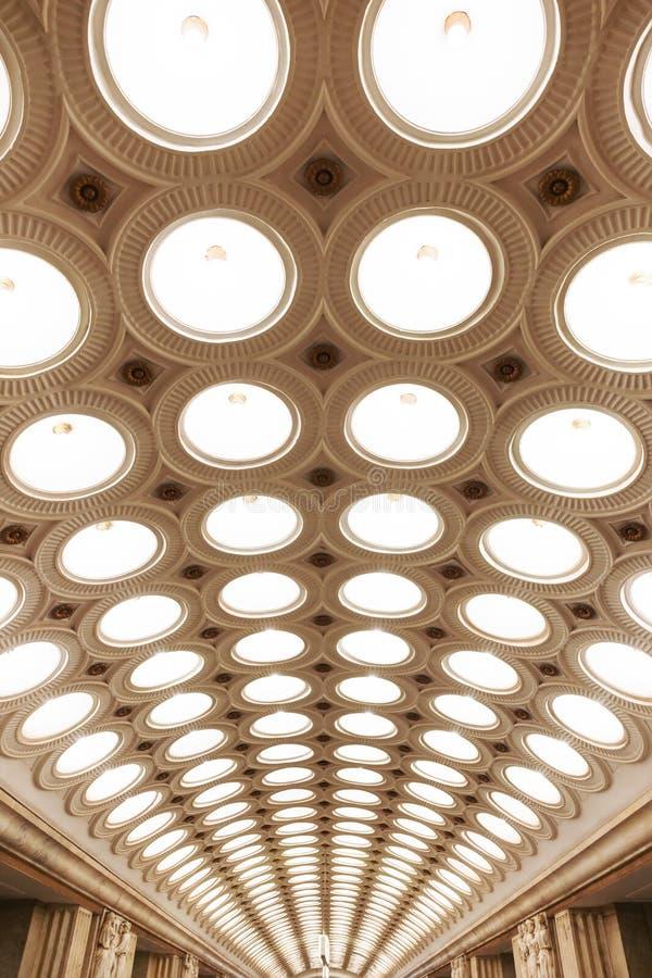 Stazione della metropolitana di Elektrozavodskaya fotografia stock libera da diritti