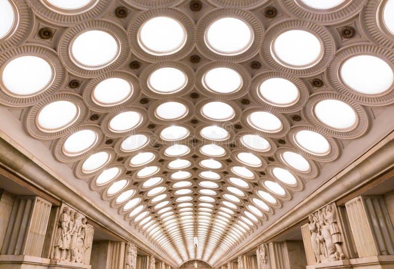 Stazione della metropolitana di Elektrozavodskaya fotografie stock libere da diritti