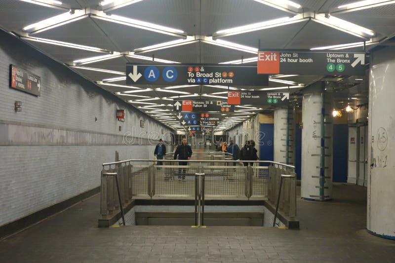 Stazione della metropolitana di New York fotografia stock libera da diritti