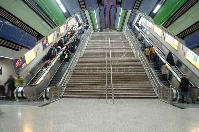 Stazione della metropolitana di Teheran fotografia stock libera da diritti