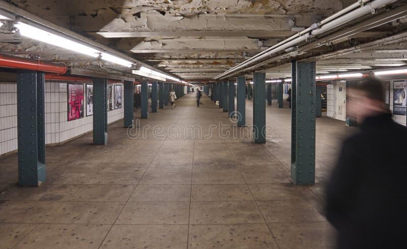 Stazione della metropolitana a New York del centro immagini stock libere da diritti