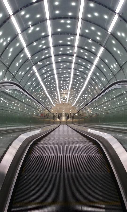 Stazione della metropolitana Varsavia fotografia stock