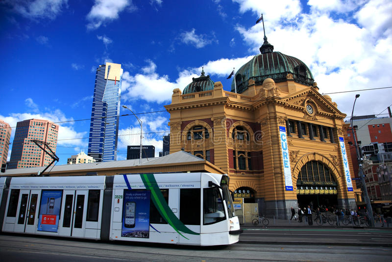 Stazione della via del Flinders, Melbourne fotografia stock