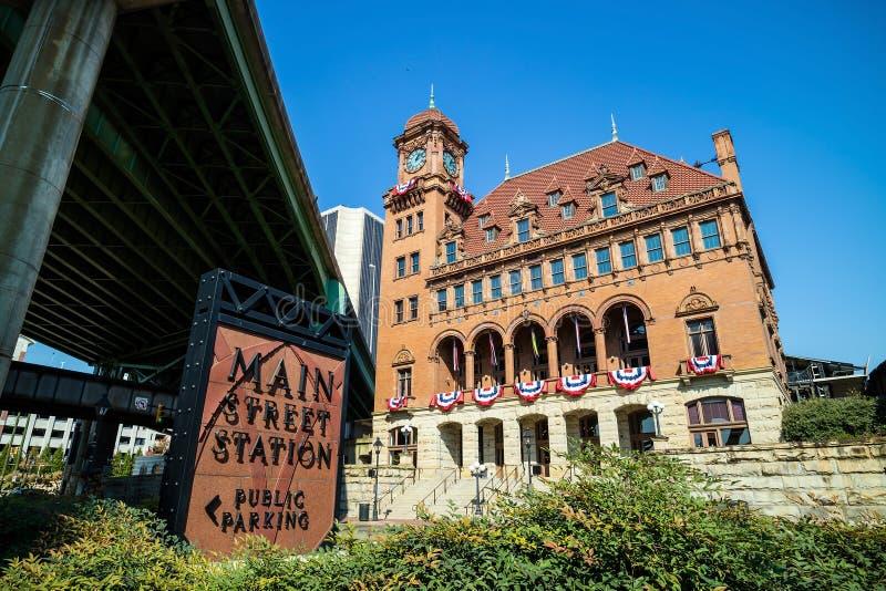 Stazione della via principale - Richmond VA fotografia stock libera da diritti