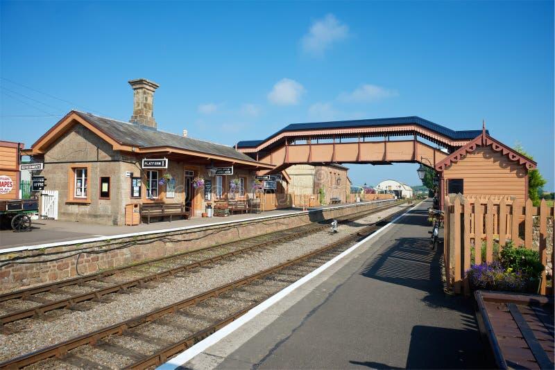 Stazione Devon del nord Regno Unito di Williton fotografia stock libera da diritti