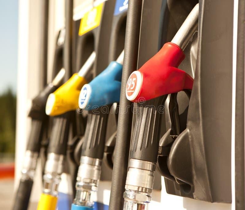 Stazione di benzina fotografie stock libere da diritti