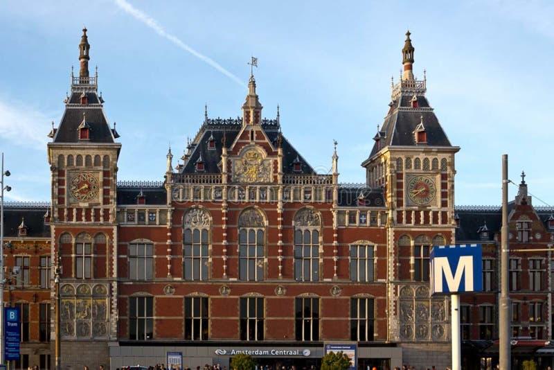 Stazione di Centraal a Amsterdam fotografia stock libera da diritti