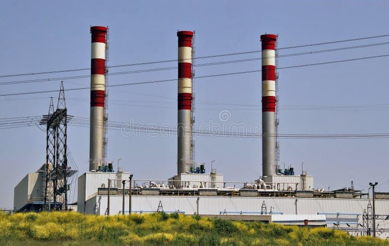 Stazione di conversione del gas naturale fotografie stock