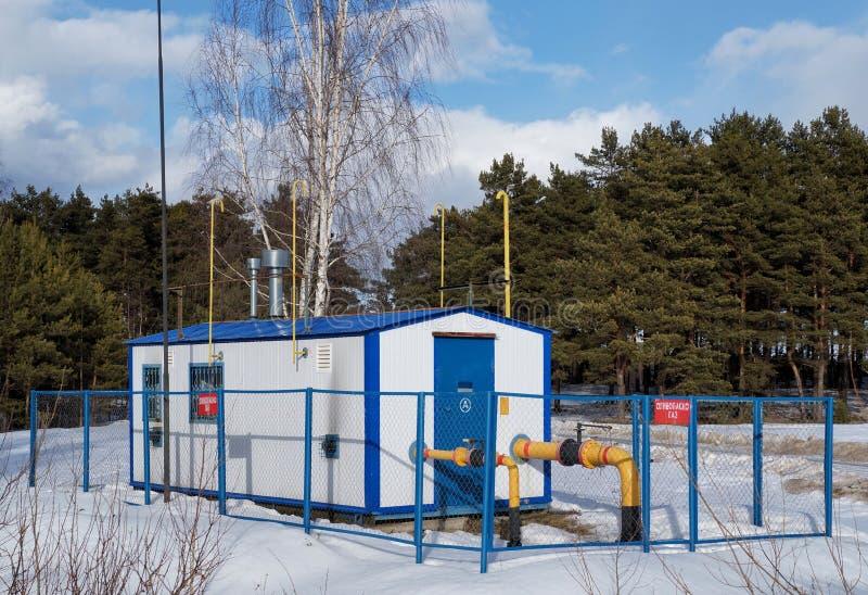 Stazione di distribuzione del gas naturale immagine stock libera da diritti