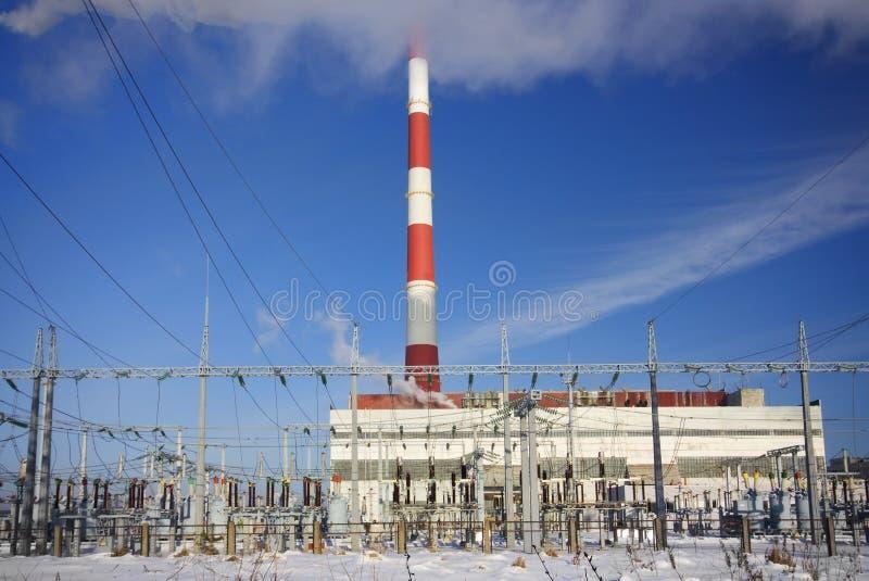Stazione di elettricità immagine stock libera da diritti