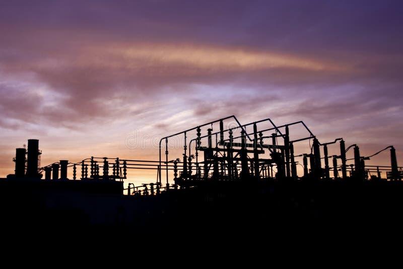 Stazione di energia elettrica fotografia stock libera da diritti