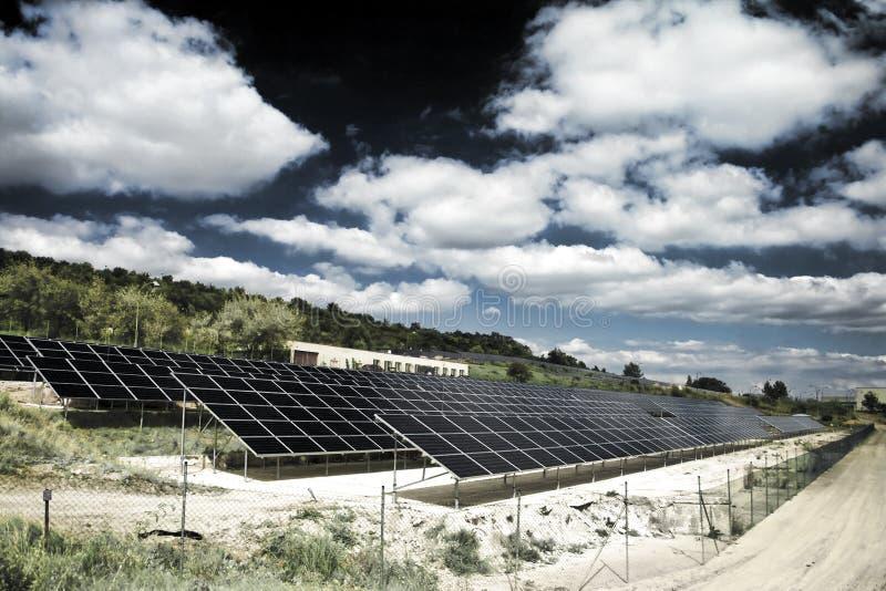 Stazione di energia solare immagini stock