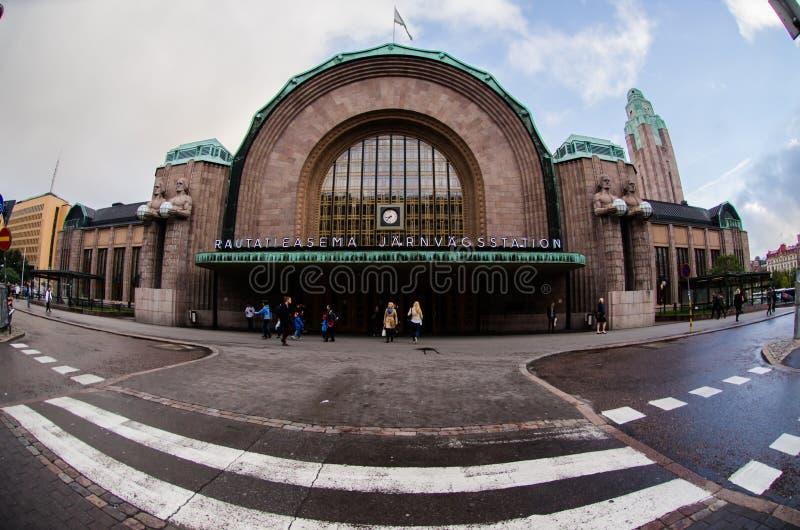 Stazione di ferrovia principale in Helsinky immagine stock libera da diritti
