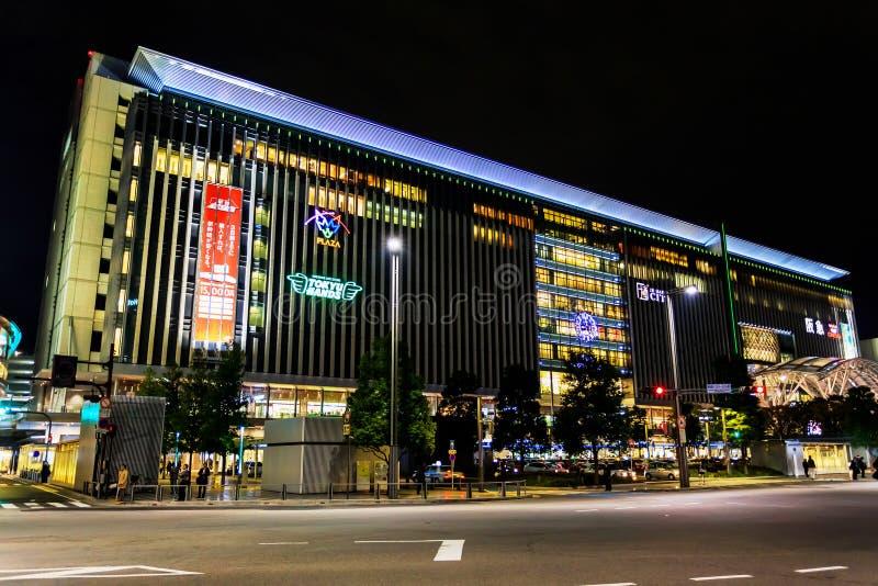 Stazione di Hakata a Fukuoka immagini stock
