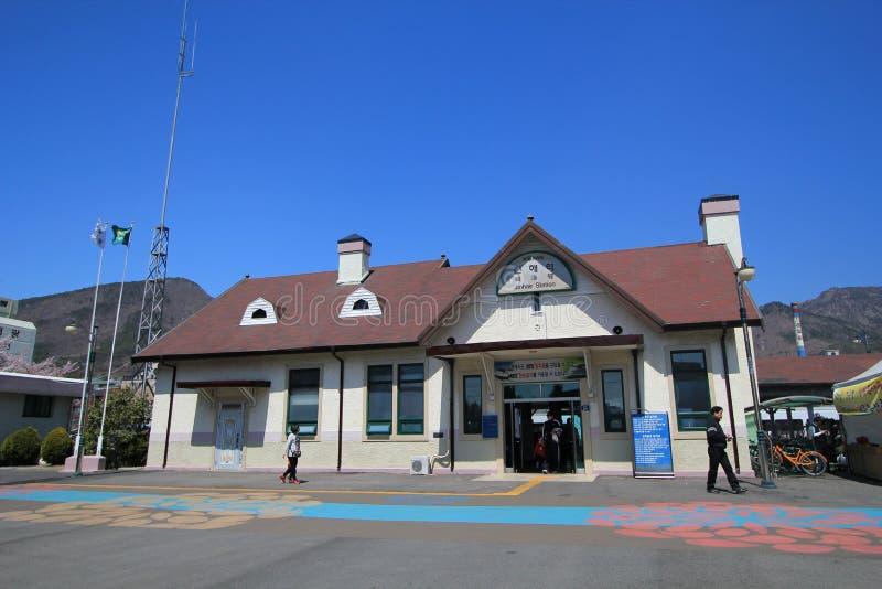 Stazione di Jinhae nel Sud Corea fotografia stock