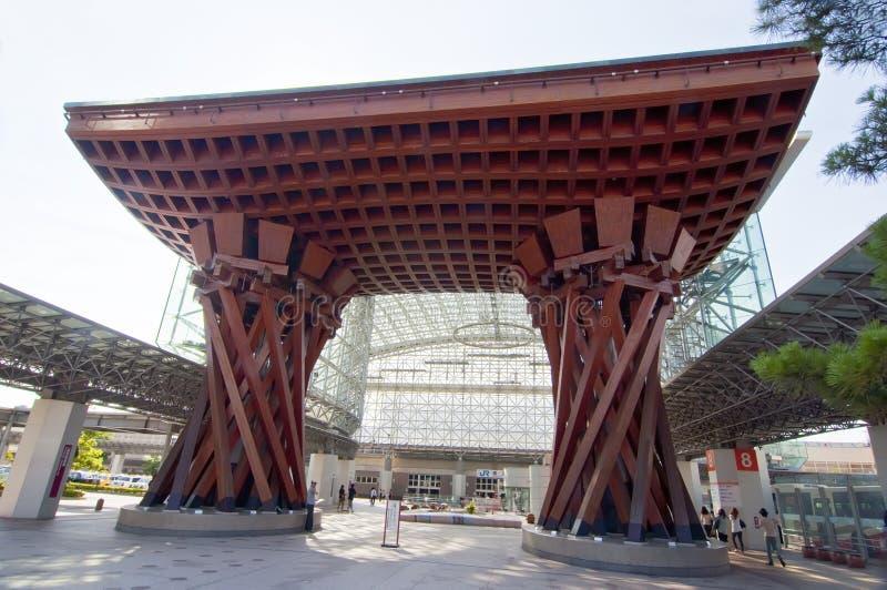 Stazione di Kanazawa, Giappone fotografia stock libera da diritti