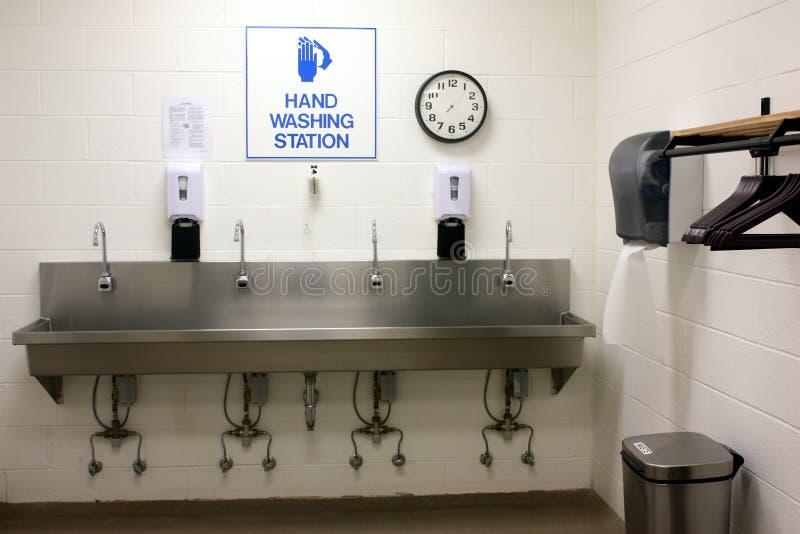 Stazione di lavaggio della mano immagine stock