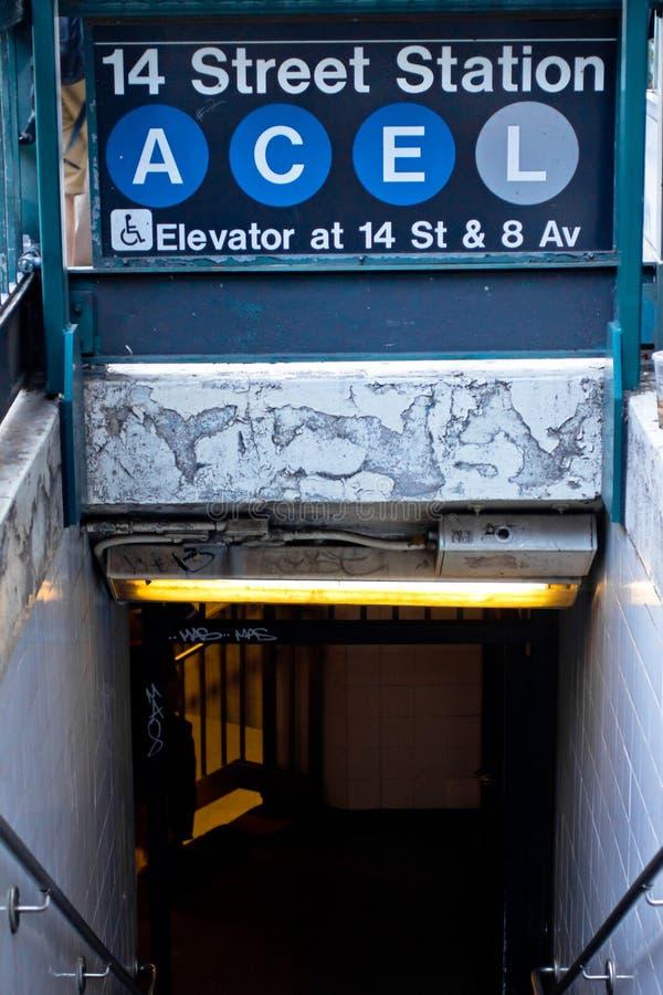 Stazione di metro di NYC fotografie stock libere da diritti
