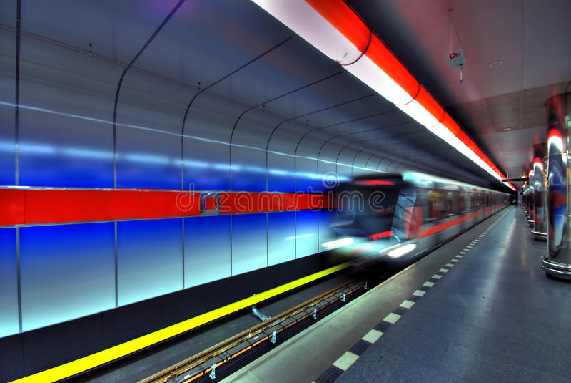Stazione di metropolitana immagine stock
