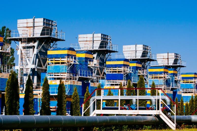 Stazione di misura del gas immagini stock