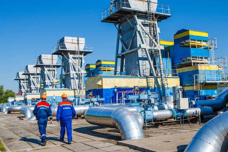 Stazione di misura del gas fotografia stock