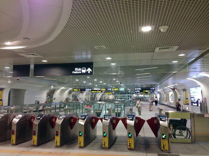 Stazione di MRT di Taipei di Taiwan immagine stock