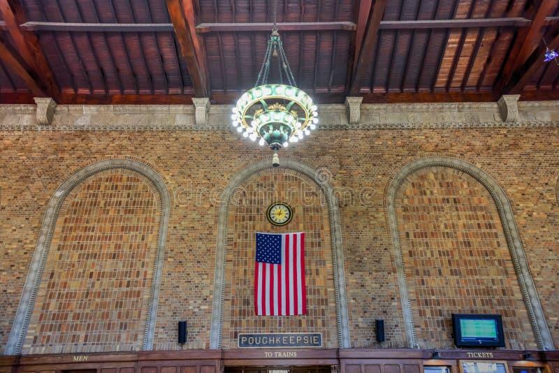 Stazione di Poughkeepsie - ferrovia della centrale di New York fotografia stock
