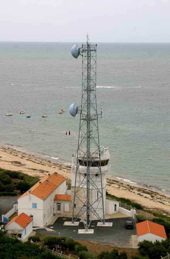 Stazione di radar Ile De Re Francia fotografia stock libera da diritti