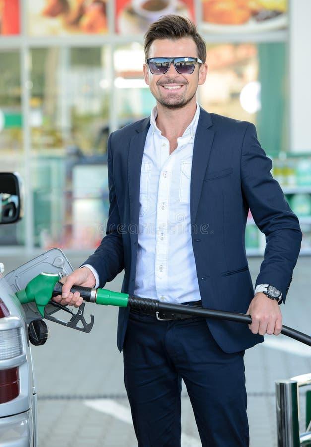 Stazione di servizio della benzina immagini stock