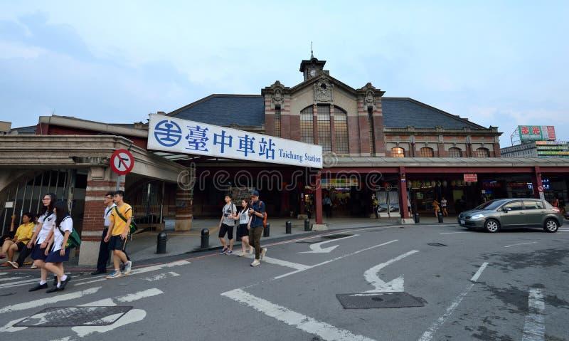 Stazione di Taichung al crepuscolo fotografia stock