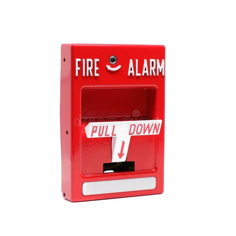 Stazione di tirata dell'allarme antincendio immagini stock