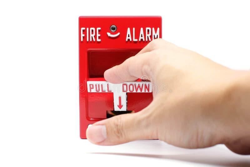 Stazione di tirata dell'allarme antincendio fotografia stock libera da diritti
