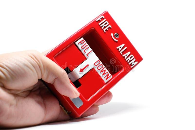 Stazione di tirata dell'allarme antincendio immagine stock libera da diritti