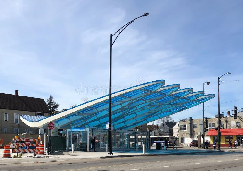 Stazione di transito pubblica di Chicago immagine stock libera da diritti