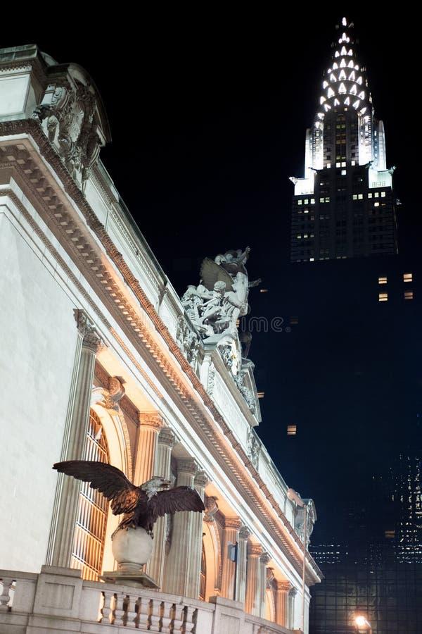 Stazione edificio e di Grand Central di Chrysler immagini stock