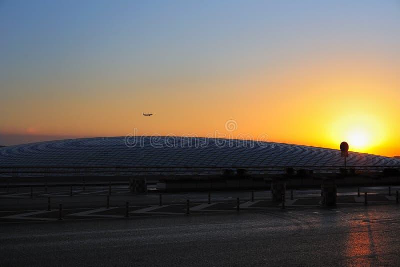 Stazione espressa dell'aeroporto del terzo terminale, Pechino immagini stock